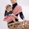Địu vải em bé Jumy's màu hồng