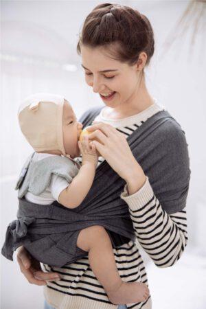 Địu vải em bé Jumy's màu xám